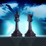 chess-pieces and world